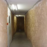 One of the tunnels leading to store rooms and the computer room under FJs at Pleasant Hill.  Photo:Tim Carlton