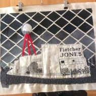 Fletcher Jones: fabric and embroidery by Louise Parlour.