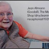 Jean Altmann (Goodall) who was the Man's Shop dry cleaning receptionist. Here she is looking at old FJ photos from the FJ Stories Project on her daughter's laptop.  Photo: Carol Altmann