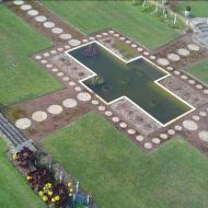 The sunken pond - this is currently being repaired and retiled. Photo:Matt Lanyon