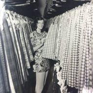 Rosalyn Freckleton amongst the FJ skirts.  Photo:Jones Family Collection