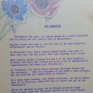 "There are many Do You Knows or FJ Daily Staff Bulletins that tell of the service by FJ Staff generally and by FJ Junior Board in particular. This one from 1971 tells of their activities caring for the ""elderly folk of Warrnambool."""