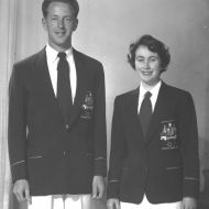 The 1956 Olympic Uniforms designed and made by FJs.  This was FJs first manufacture of women's skirts.  Photo: David Owen