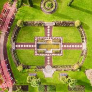 A beautiful photo by Aaron Toulmin showing the amazing symmetry of the FJ gardens in 2017.