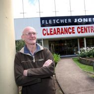 Warrnambool's Fletcher Jones clothing clearance centre shop closed on December 14,2011. Pictured is John Hogan who was the manager and worked at Fletcher Jones for 46 years. Photo: Damian White Warrnambool Standard