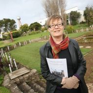 Julie Eagles, co-author of the Saga of 94 Merri St Report that highlighted the danger of demolition by neglect of the FJ site.  Photo: Warrnambool Standard