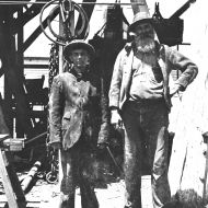 Cornish miners, Bendigo, 1912.  Photo: Jones Family Collection