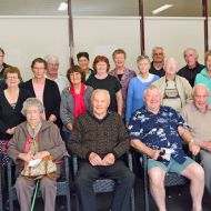 Former FJ employees at the third FJ Stories morning tea held in 2015 along with members of the FJ Stories Steering Group.  Photo: Rhonda McDonell