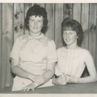 16 year old Susan and 14 year old Dianne Rae at Fletcher's 1961. Photo: Shared by Dianne Rae
