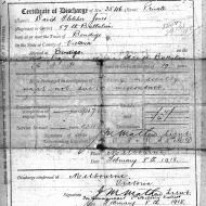 FJ's army discharge papers.  Image: Jones Family Collection