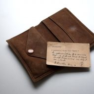 Souvenir Wallet with note from FJ to tailor Lance Munday.  FJ bought the gift back from his trip to Japan to study worker's cooperatives in 1936.  Shared by Lance's granddaughter, Michelle Cust nee Munday
