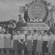 The winning 1962 FJ and Staff float.  Photo: Jones Family Collection