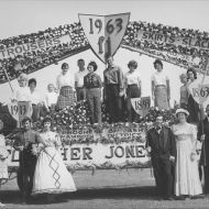 The amazing 1963 Fletcher Jones and Staff float.  Photo: shared by Valmae Bell.