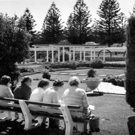 Workers enjoying the gardens at lunchtime 1962.  Photo: Jones Family Collection