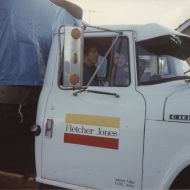 The FJ rubbish truck that Gary learnt to drive in.  That's Gary as a young fella in the photo.  Date unknown. Photo: Gary Kelly