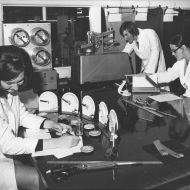 Heather Durham, Dirk Polderman and Sue Peterson in the Laboratory, 1974. Photo: Jones Family Collection