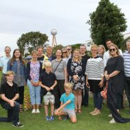 Eighteen members of the Jones family travelled to attend the 2015 community Christmas picnic in the Fletcher Jones gardens.  Photo: Colleen Hughson