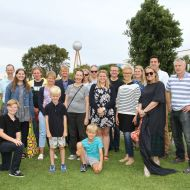 At the 2015 Christmas Party in the gardens, 18 members of the Jones family joined in the festivities. They travelled from Melbourne, Sydney, Brisbane and Germany to attend the picnic and the unveiling of the first FJ story panel.  Photo Colleen Hughson