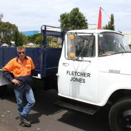 Gary with the same truck spruced up and parked outside the 2015 community picnic in the FJ gardens.   Photo: Colleen Hughson