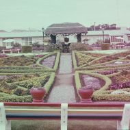 The symmetry and extraordinary manicured detail of the FJ gardens in 1963. Photo: Lindsay Duus