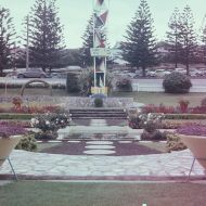 View of the FJ gardens looking towards the carpark for workers in 1963.  Photo: Lindsay Duus