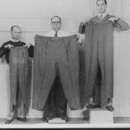 No man is hard to fit - 72 scientific sizes!  Photo: Jones Family Collection.