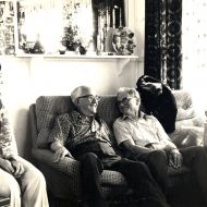FJ relaxing with family and friends after receiving the news of his knighthood. Photo: Jones Family Collection