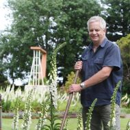 Lex Caldwell who led the volunteer effort to keep the Fletcher's Gardens alive.  He is now head gardener and leading the restoration of the gardens under Dean Montgomery's ownership.  Photo: Bluestone Magazine
