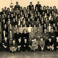 Man's Shop staff now grown considerably - 1945.  Photo:Jones Family Collection