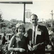 Margaret and John Thorburn attending a Rotary Conference in the Pleasant Hill gardens.  Photo: shared by David Thorburn