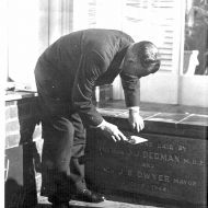 In June 1948, the Pleasant Hill Foundation Stone was laid by Hon. J.J.Dedman, M.H.R.Photo: Jones Family Collection