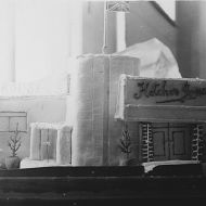 The opening day cake modelled on the Pleasant Hill Factory!  Photo: Jones Family Collection