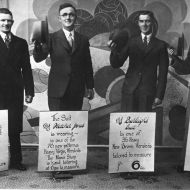 Fletcher Jones , second from left - marketing in the 30s.  Photo: Jones Family Collection