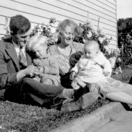 FJ and Rena had three children - here they are pictured with two of their children, Ralph and Lois. Photo: Jones Family Collection