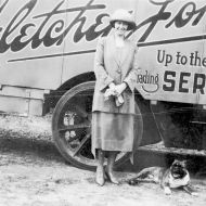 Rena Jones with her dog Digger, 1920's. Photo: Jones Family Collection