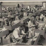 Factory floor at Pleasant Hill, 1950s.  Photo: Alex Wilkins and shared by Richard Phillips.