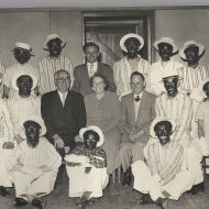 Black Faces - Fletcher and Rena Jones seated middle.  We are unsure what the occasion or reason for the black faces was!  Photo: Alex Wilkins.