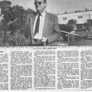 Mayor David Atkinson at the FJ site and article Warrnambool Standard April 28, 1992.  Shared by Lawson Ryan