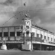 Man's Shop decorated for Florado Festival in the 40's. Photo: Jones Family Collection