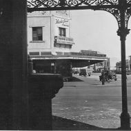 View of the Man's Shop from Suggest's verandah 1930's. Photo:Jones Family Collection