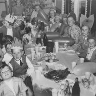 kids at a 1950 FJ Christmas Party.  Photo: Jones Family Collection