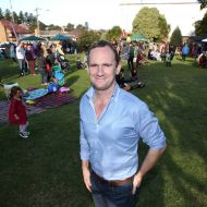 Dean Montgomery at a community Spring picnic in the gardens held not long after he bought the site in 2014 and saved it from demolition.  Photo: Warrnambool Standard