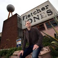 Dean Montgomery in 2014 just after he bought the derelict FJ site.  Photo: Warrnambool Standard