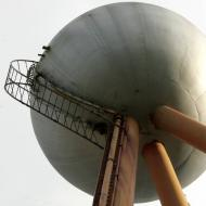 Trespassers climb the rusty ladder to get to the top the ball 2006:image Warrnambool Standard