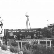 1968 and the Silver Ball, also a sphere, now towers above the smaller sculpture.   So why was this cone and sphere formation so important to Fletcher? Photo: Jones Family Collection