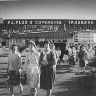 Workers leaving the Pleasant Hill Factory in 1962.  Photo: Gordon DeLisle