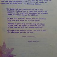 Milk for Pakistan babies.  Staff Do You Know  Bulletin from 1972.  Shared by Doug Maloney and Family