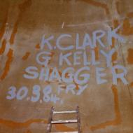 The workers names recorded inside the ball!  Photo: Gary Kelly