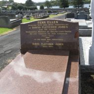 The grave of Rena Jones and Sir Fletcher Jones in the Warrnambool cemetery.  Photo: Julie Eagles