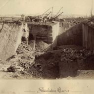 The working quarry in 1890 at the site that would become Pleasant Hill.  Image:Warrnambool and District Historical Society